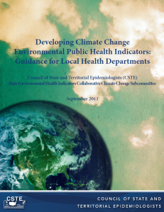 Publication: Developing climate change environmental public health indicators : guidance for local health departments