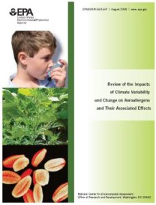 EPA report on aeroallergens and climate change 2008