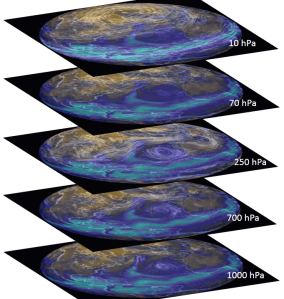 Total Precipitable Water at the North Hemisphere 21 Oct 2014. Composition by Diego Fdez-Sevilla. Images from Nullchool.net