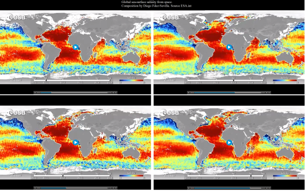 Global sea-surface salinity from space Composition by Diego Fdez-Sevilla