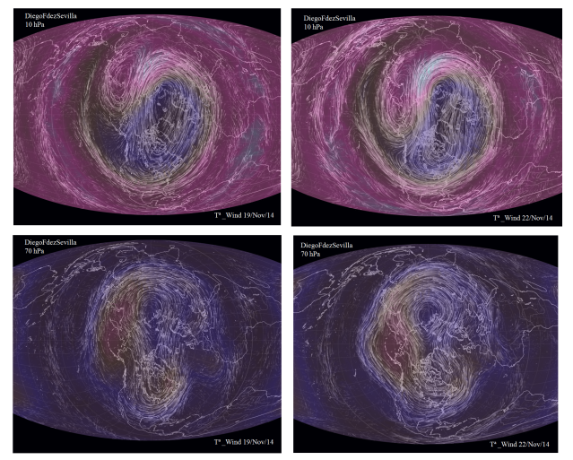Polar vortex 70_10 hPa and 19_22 Nov 2014 DiegoFdezSevilla