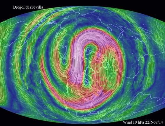 Polar vortex Cenit 22 Nov 2014