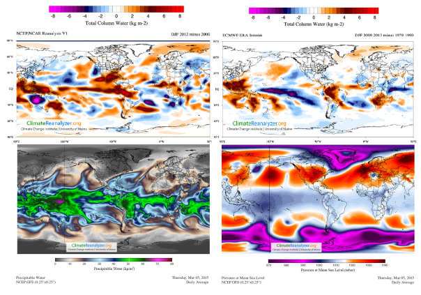 5 march 2015 NCEP_NCAR ECMWF ERA_Interim