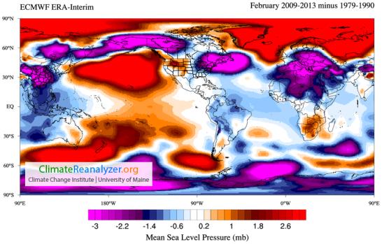 ECMWF Pressure anomaly
