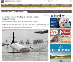 Meltwater causes flooding SPain Spanishnewstoday Diego FdezSevilla wordpress