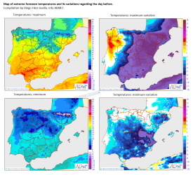 Temperature variations Spain 15 May 2015 by Diego Fdez-Sevilla