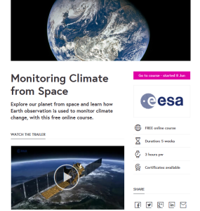 Monitoring Climate from Space course by Diego FdezSevilla