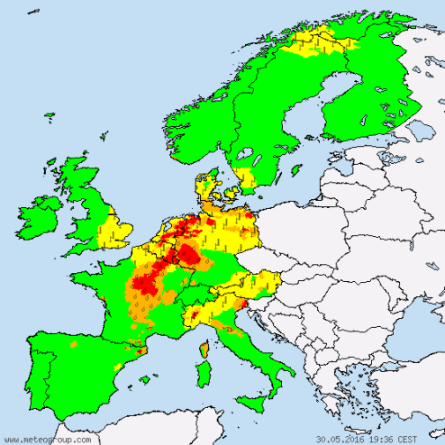 Europe Weather Warnings 30 May 2016 Diego Fdez-Sevilla