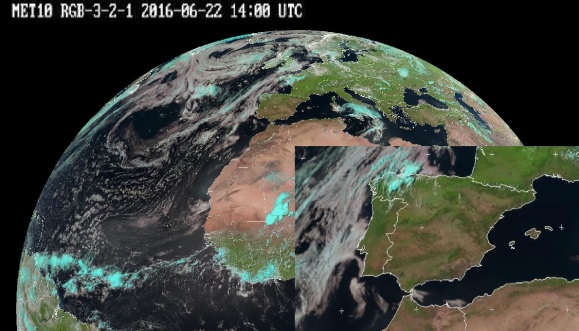 22 June 2016 Satellite Atlantic Spain